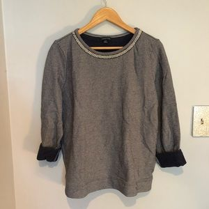 Land's End pearl-detail sweater